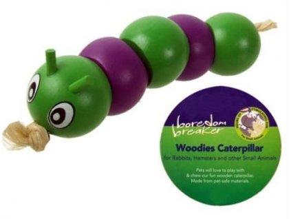 Hračka pro hlodavce Woodies Caterpillar