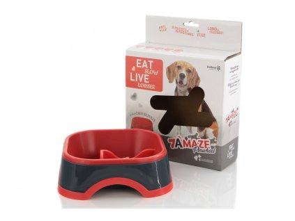 Zpomalovací miska pro psy HOLLAND Animal Care, barva červená