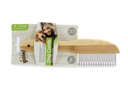 Dřevěný hřeben pro psy PAWISE na středně hustou srst