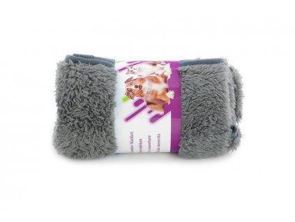 Plyšová deka pro psy NOBLEZA šedá 2