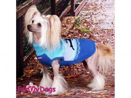 Obleček pro psy i fenky – svetr WINTER BLUE