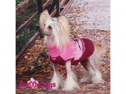 Obleček pro psy i fenky – svetr WINTER PINK