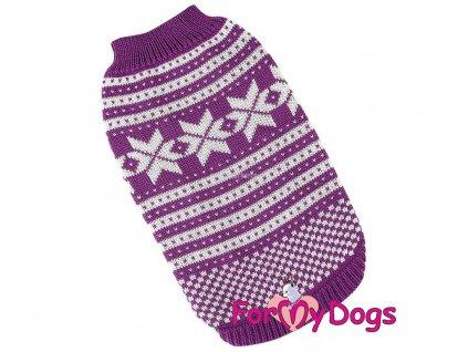 Obleček pro psy i fenky – svetr FMD ALPINE PURPLE, barva fialová