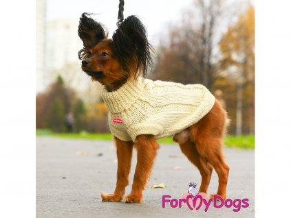 Obleček pro psy i fenky – svetr FMD IVORY, barva béžová