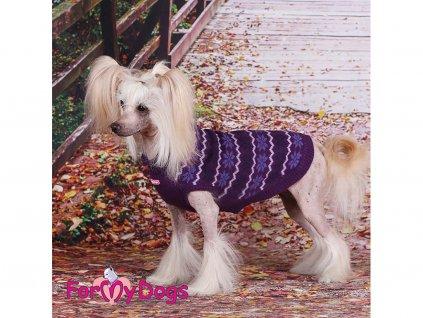 Obleček pro psy i fenky – svetr FMD ALPINE, barva fialová