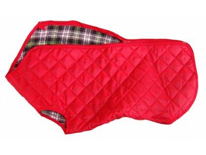 Obleček pro psy i fenky – nepromokavý kabát Cosipet Quilted, červený
