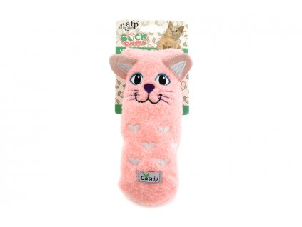 Hračka pro kočky – kočka AFP, barva růžová