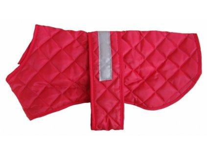 Nepromokavý reflexní kabát pro psy COSIPET, červený