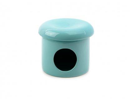 Keramický domeček pro hlodavce TOMMI, barva modrá