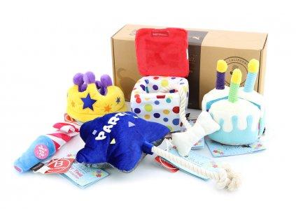Exkluzivní dárkový box pro psy s hračkami PARTY TIME