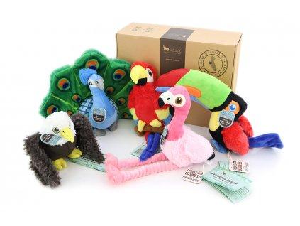 Exkluzivní dárkový box pro psy s hračkami BIRD ZOO