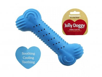 Gumová chladící kost pro psy, modrá