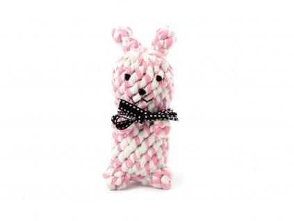 Ručně vyráběná hračka pro psy od Pet London ze 100% bavlny – zajíc