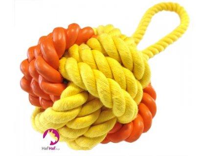 Hračka pro psy Rubber Rope Ball Tug