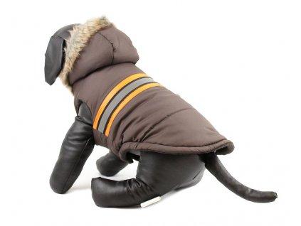 Zimní bunda pro psy a fenky URBAN PUP, hnědá s kožešinou