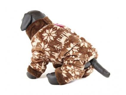 Oblečky pro psy – zimní overal pro psy For My Dogs, hnědý
