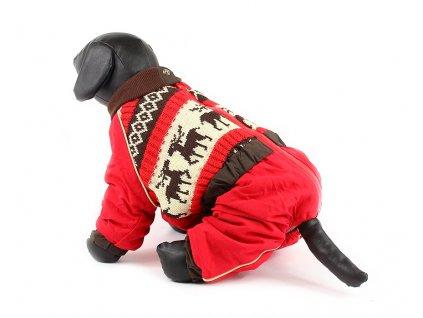 Oblečky pro psy – zimní overal pro fenky For My Dogs, nylon s úpletem