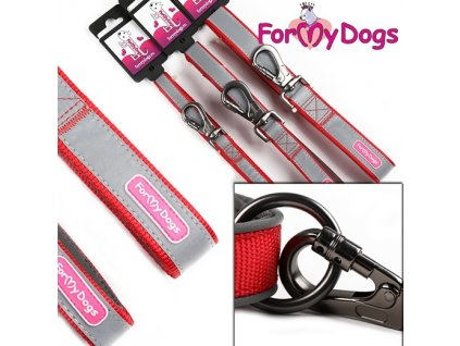 Červené vodítko pro psy FOR MY DOGS