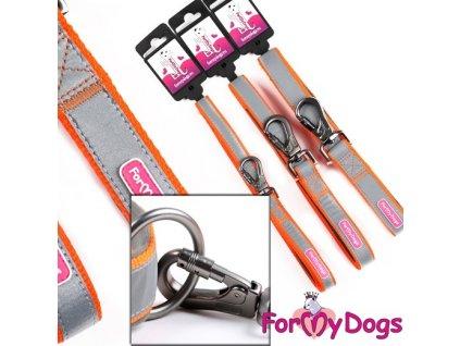 Oranžové vodítko pro psy FOR MY DOGS