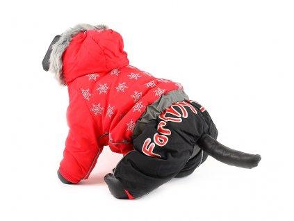 Oblečky pro psy – zimní šusťákový overal pro fenky For My Dogs, červený
