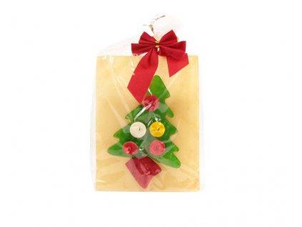 Vánoční hračka a pamlsek pro psy v jednom, stromeček z buvolí kůže