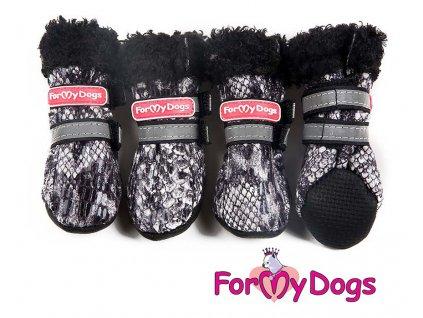 protiskluzové botičky pro psy For My Dogs, vzor krokodýl