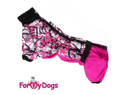 Obleček pro fenky jezevčíků – zimní overal FMD, růžovofialový