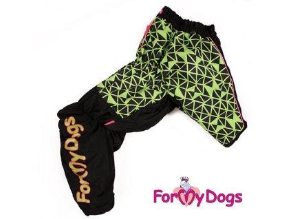 Obleček pro psy středních plemen – zimní overal FMD, zelenočerný