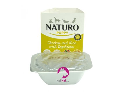 Naturo Puppy Chicken and Rice with Vegetables 150 g