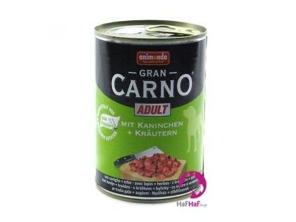 Animonda Gran CARNO ADULT Kaninchen +Kräutern 400 g