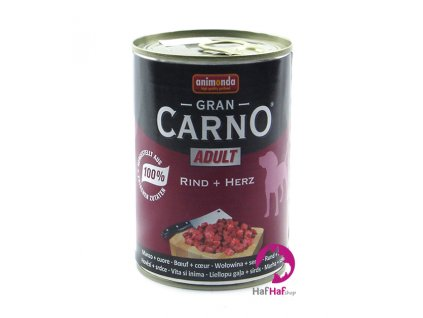 Animonda Gran CARNO ADULT Rind+Herz 400 g