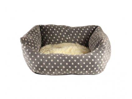 Luxusní měkoučký pelíšek pro psy malých plemen s huňatou vyjímatelnou poduškou.