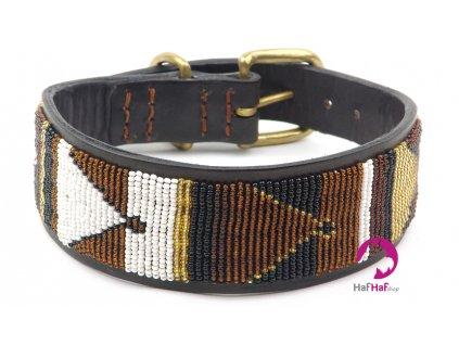 Ručně vyráběný kožený obojek pro psy – 47 cm