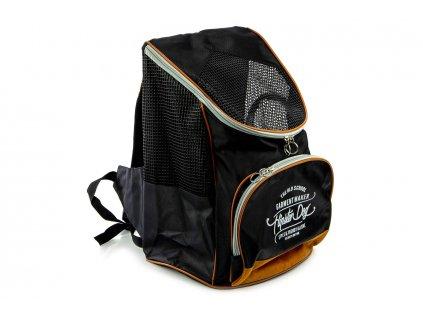 Luxusní batoh na psy značky BOBBY v decentním černém provedení