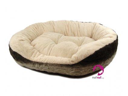 Plyšový pelíšek pro psy Cream Snuggle