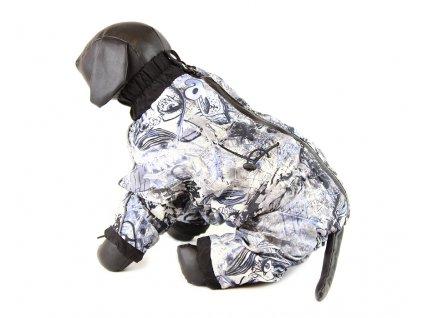 Pláštěnka pro psy multicolor, šedočerná