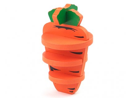 Jedlá hračka pro hlodavce – 3D CARROT