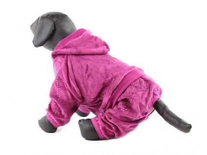 Oblečky pro psy – velurový overal pro psy a fenky For My Dogs, fialový