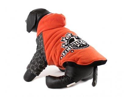 Teplá úpletová bunda pro psy FMD s kapucí