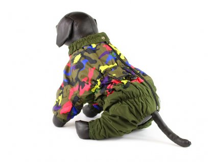 Obleček pro psy – zimní overal pro psy velkých plemen, maskáč