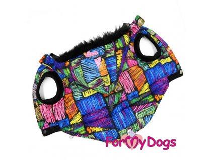 Obleček na psa – pestrá barevná bunda pro psy i fenky