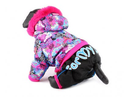 Oblečky pro psy – barevný overal pro fenky For My Dogs