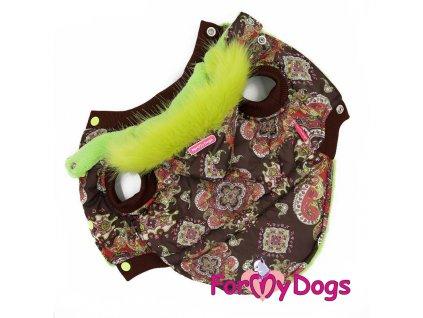 Oblečky pro psy – hnědá bunda pro psy i fenky