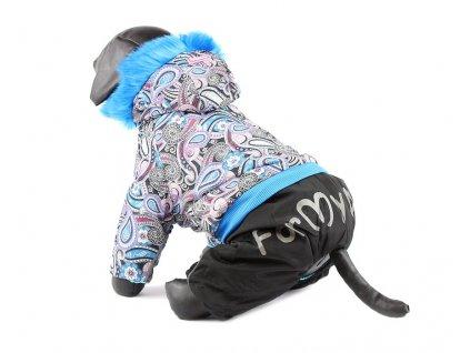 Oblečky pro psy – zimní nepromokavý overal pro psy, modrý