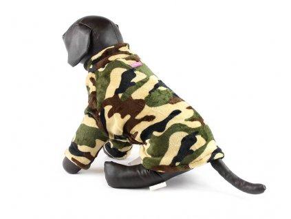 Oblečky pro psy – maskáčová mikina pro psy i fenky
