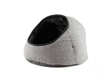 Pelíšek GREY TWEED HOODED