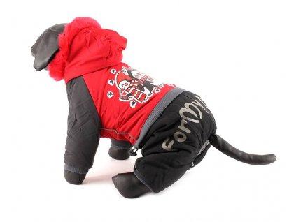 Oblečky pro psy – Nepromokavý zimní overal pro psy s potiskem tučňáků
