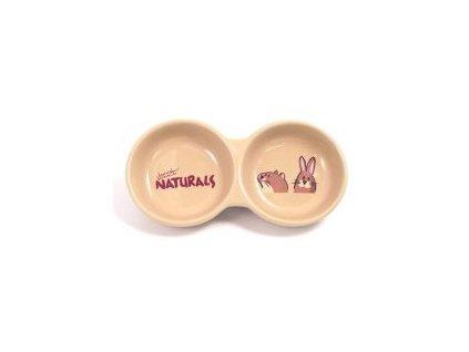 Dvojitá miska pro hlodavce Naturals s motivem.