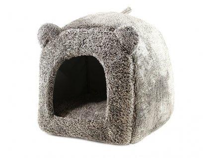 Domeček pro psy i kočky Grey Teddy Bear v originálním nepřehlédnutelném designu