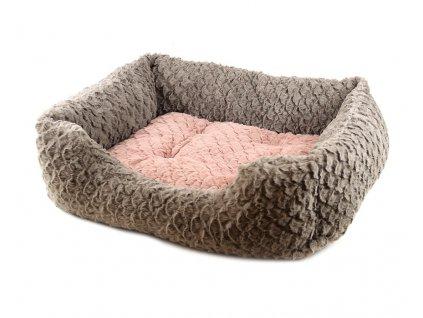 Luxusní pelíšek pro psy Grey & Pink vhodný pro psy malých až středních plemen.